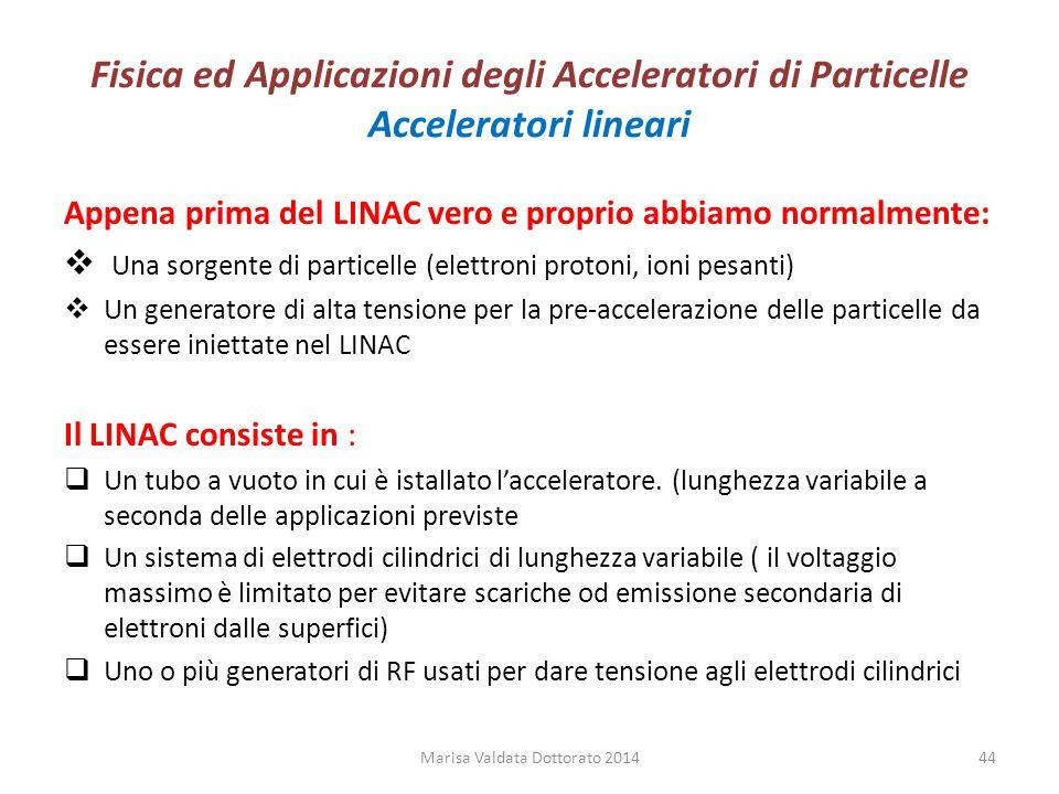 Fisica ed Applicazioni degli Acceleratori di Particelle Acceleratori lineari Appena prima del LINAC vero e proprio abbiamo normalmente:  Una sorgente