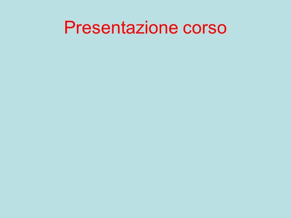 Presentazione corso
