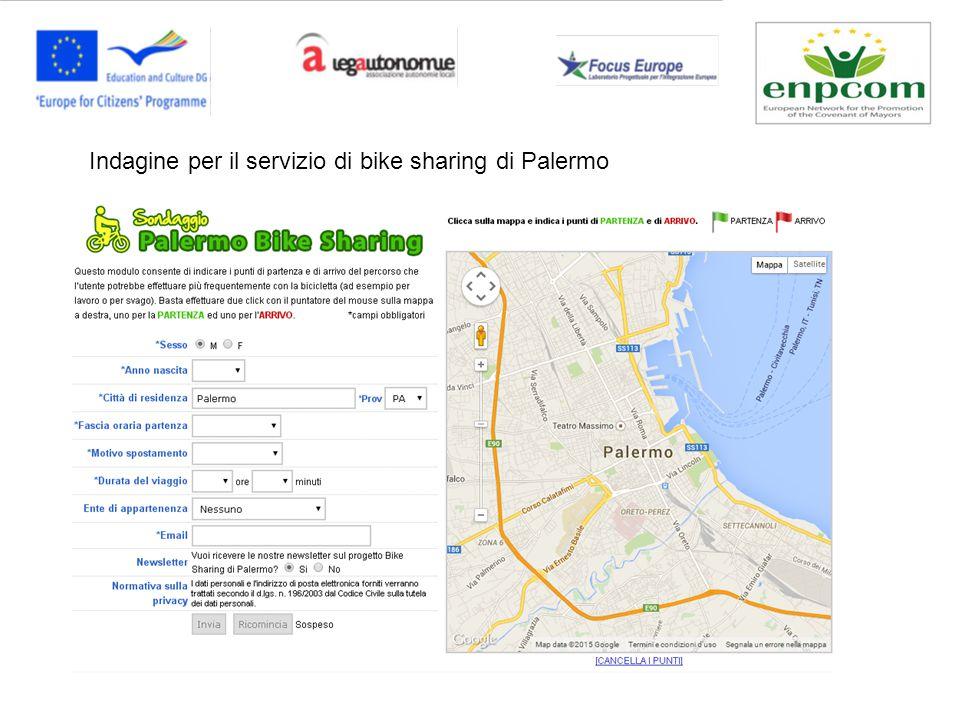 Indagine per il servizio di bike sharing di Palermo
