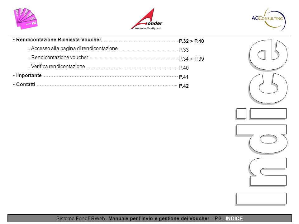 Sistema FondERWeb - Manuale per l'invio e gestione dei Voucher – P.3 - INDICE Rendicontazione Richiesta Voucher.………………………………………..