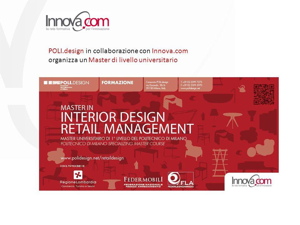 POLI.design in collaborazione con Innova.com organizza un Master di livello universitario