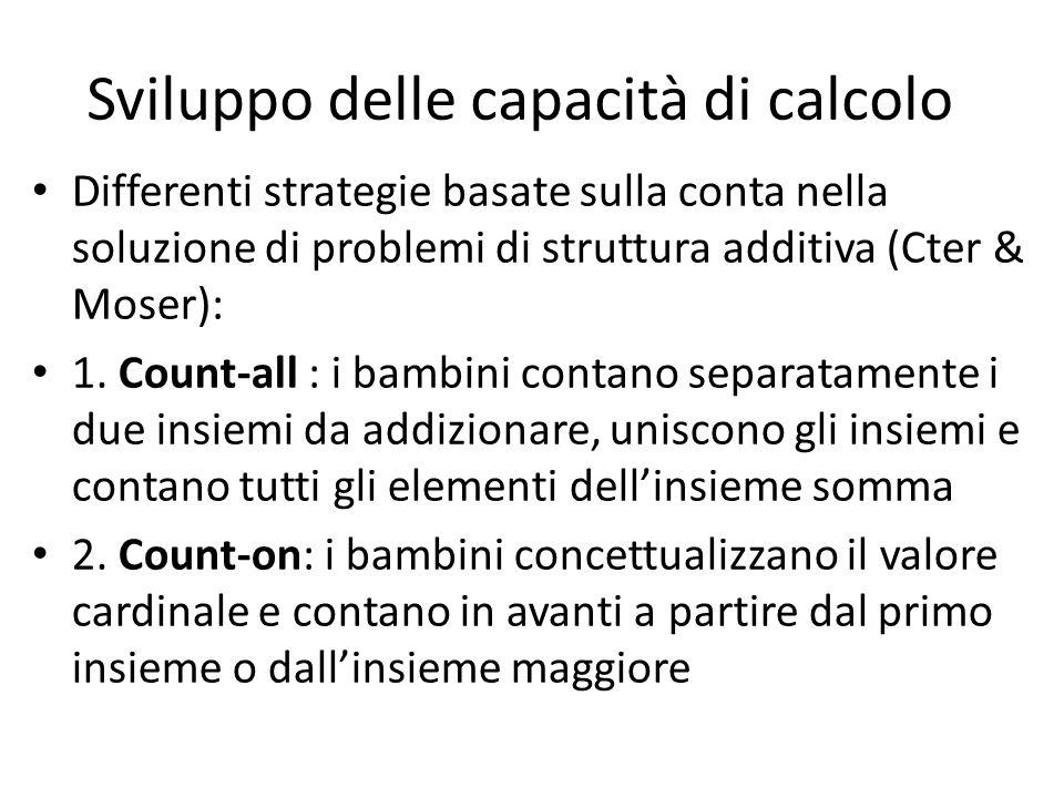 Il calcolo Il calcolo viene realizzato per risolvere problemi di tipo numerico. I problemi possono essere di struttura additiva o di struttura moltipl