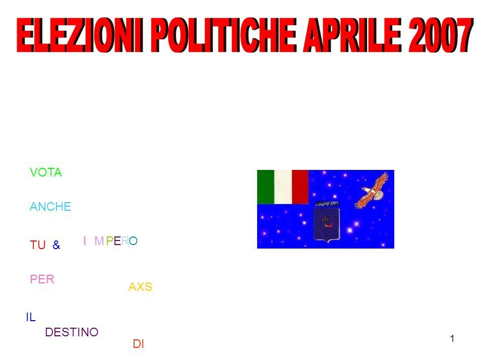 1 VOTA ANCHE TU PER IL DESTINO DI IMPERO & AXS