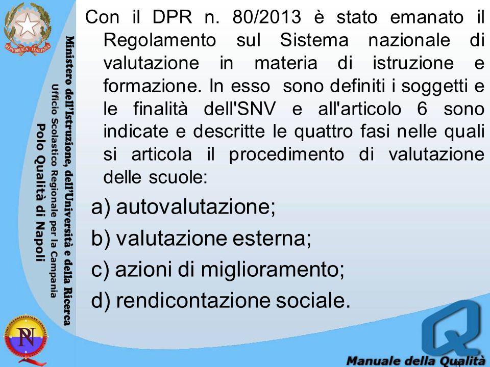 Il Progetto Qualità e la Direttiva 11/set 2014 Rispetto alle fasi del Processo (diapositiva precedente), il Polo Qualità di Napoli compie azioni di supporto significative e qualificanti.