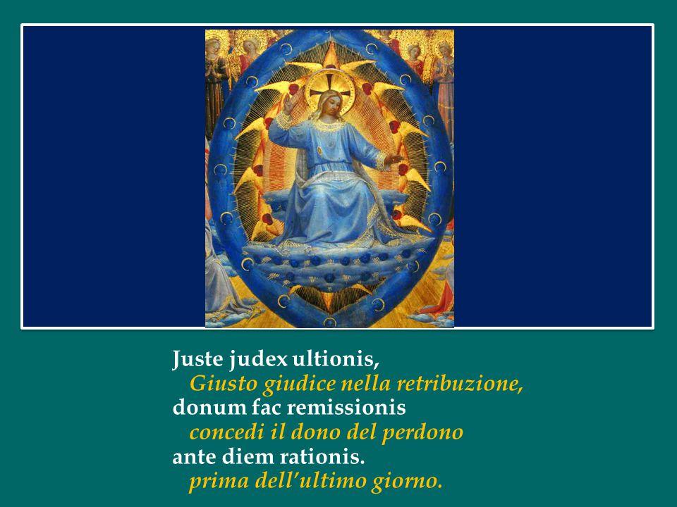 Quaerens me, sedisti lassus, Cercandomi con fatica, redemisti Crucem passus: mi hai redento con il supplizio della Croce: tantus labor non sit cassus.