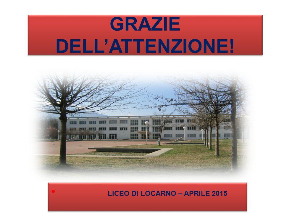 GRAZIE DELL'ATTENZIONE! LICEO DI LOCARNO – APRILE 2015