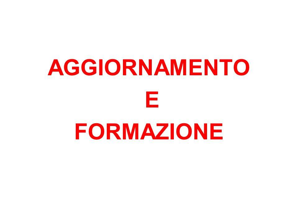 AGGIORNAMENTO E FORMAZIONE
