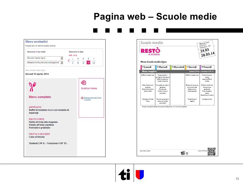 13 Pagina web – Scuole medie