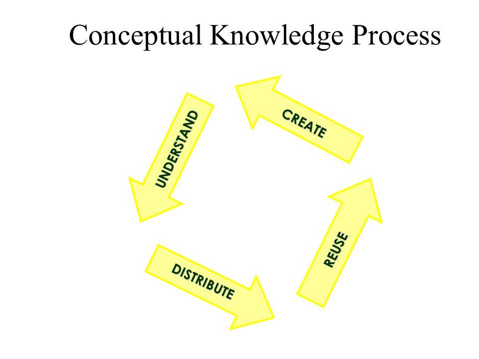Conceptual Knowledge Process UNDERSTAND REUSE CREATE DISTRIBUTE