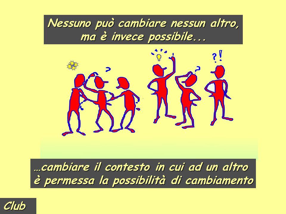 Club Nessuno può cambiare nessun altro, ma è invece possibile... Nessuno può cambiare nessun altro, ma è invece possibile... …cambiare il contesto in