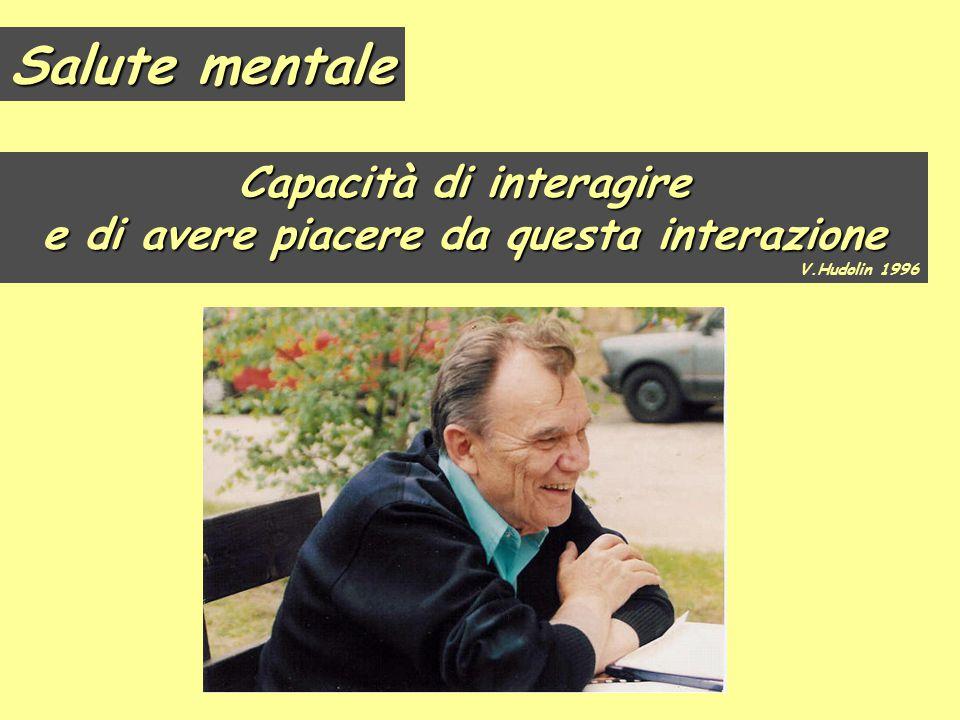 Capacità di interagire e di avere piacere da questa interazione V.Hudolin 1996