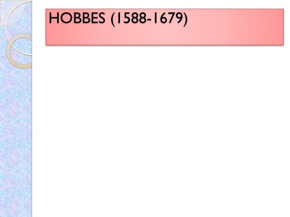 HOBBES (1588-1679)
