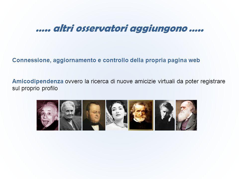 Connessione, aggiornamento e controllo della propria pagina web Amicodipendenza ovvero la ricerca di nuove amicizie virtuali da poter registrare sul p