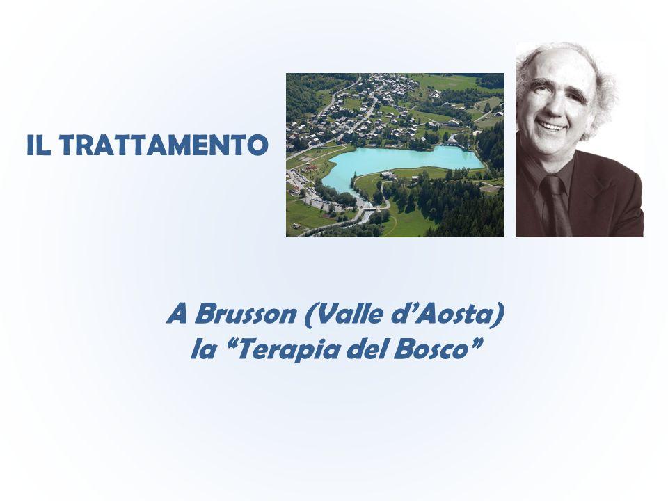 """IL TRATTAMENTO A Brusson (Valle d'Aosta) la """"Terapia del Bosco"""""""