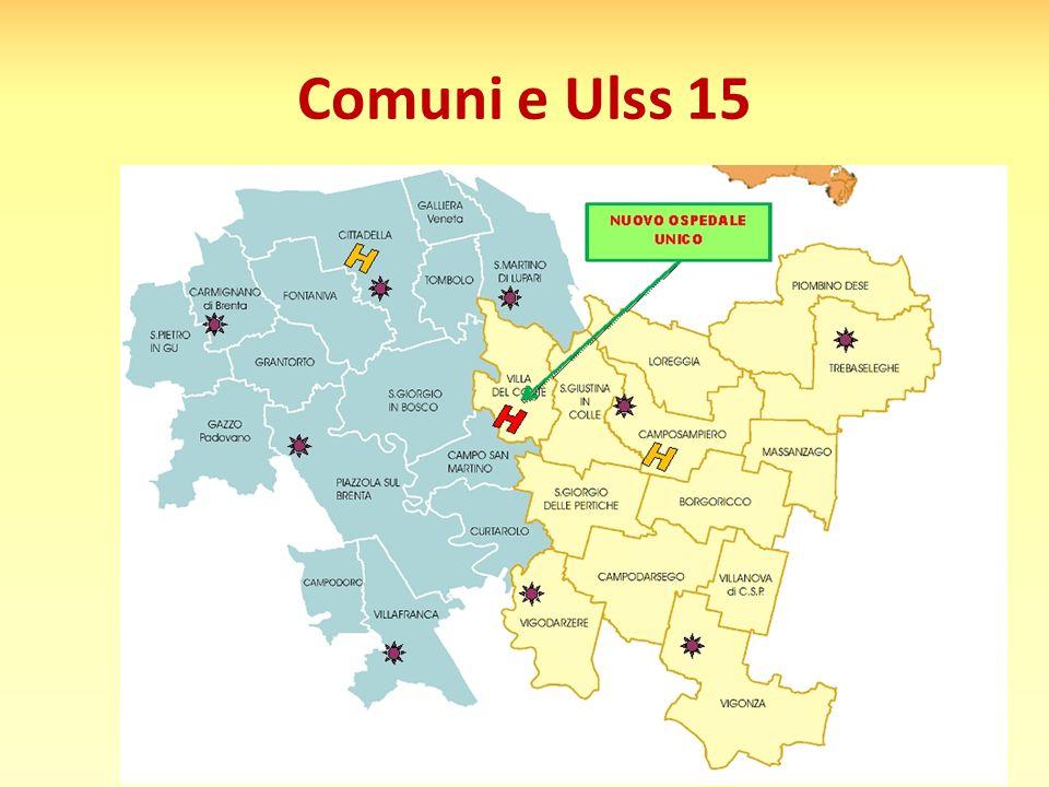 Comuni e Ulss 15
