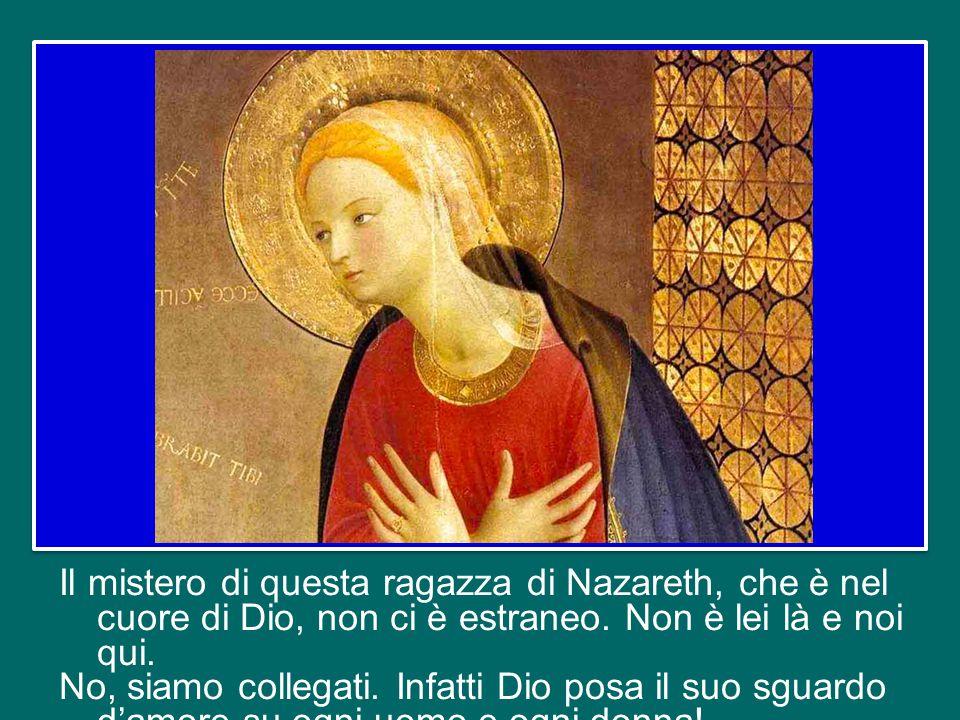 ma l'Angelo aggiunge: «Lo Spirito Santo scenderà su di te … Perciò colui che nascerà sarà santo e sarà chiamato Figlio di Dio» (v.