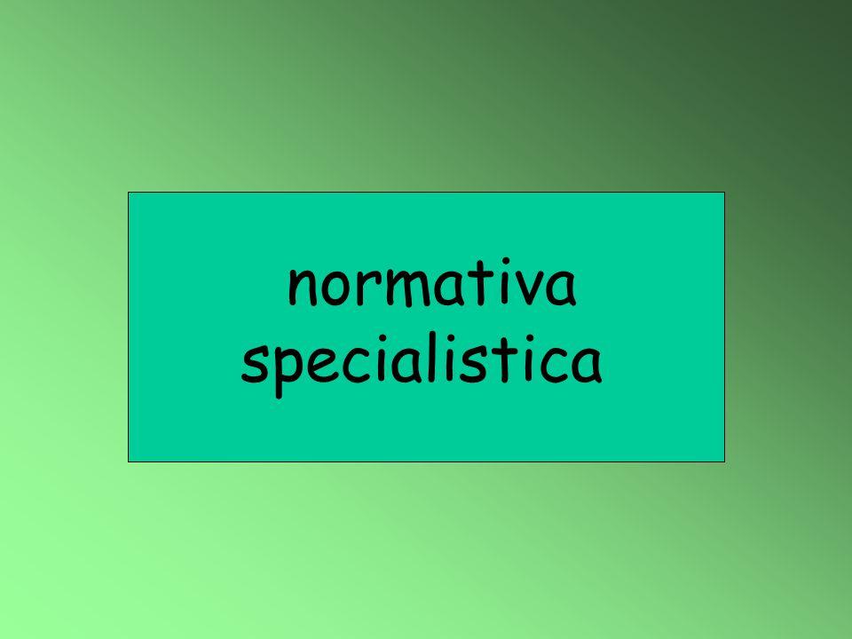 normativa specialistica