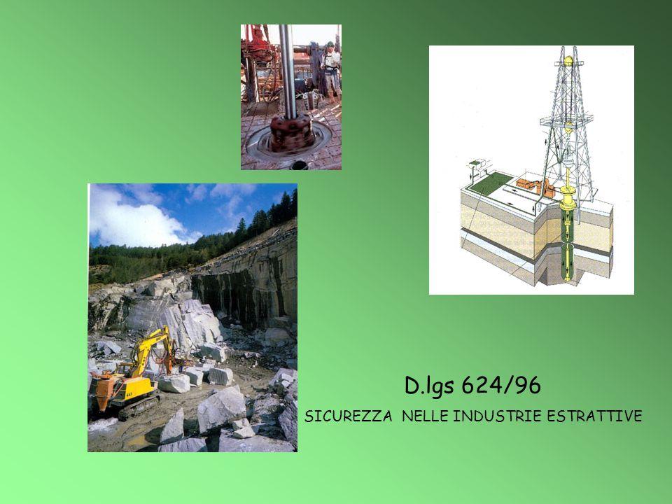 D.lgs 624/96 SICUREZZA NELLE INDUSTRIE ESTRATTIVE