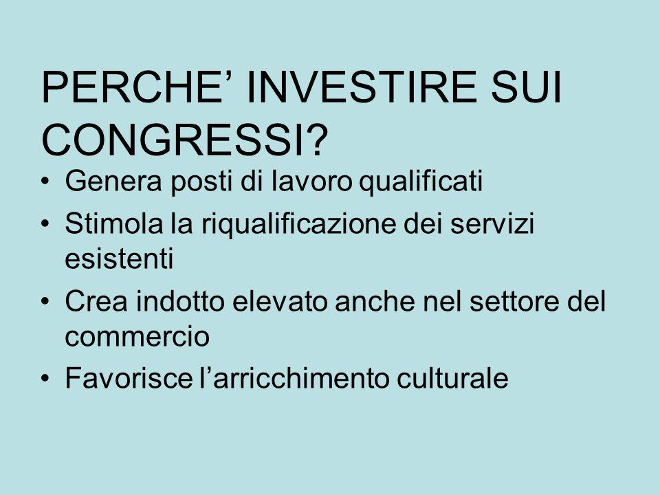 Dimensioni economiche di questo mercato –trend in crescita strutturale –nel periodo 1997-2002 in Italia: + 9,8% le giornate di presenza, +18,7% i pernottamenti Anni di crescita in cui in Italia non sono stati fatti investimenti.