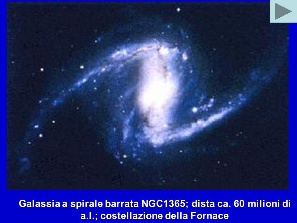 Galassia a spirale barrata NGC1365; dista ca. 60 milioni di a.l.; costellazione della Fornace