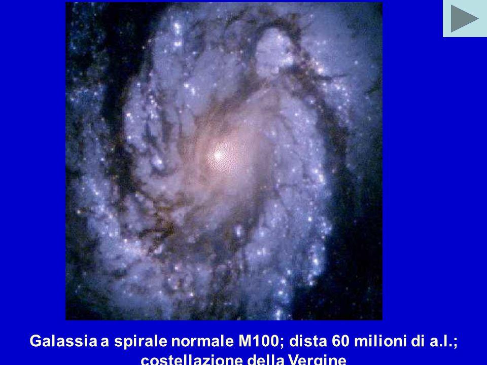 Galassia a spirale normale M100; dista 60 milioni di a.l.; costellazione della Vergine
