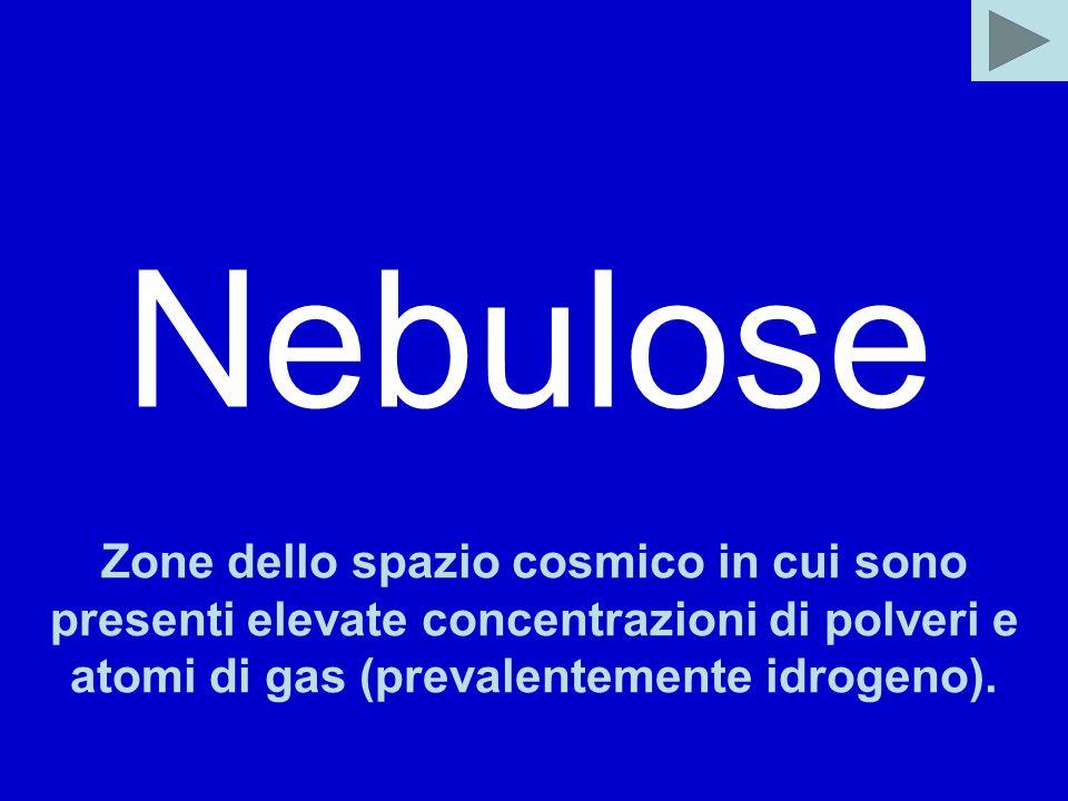 Nebulose Zone dello spazio cosmico in cui sono presenti elevate concentrazioni di polveri e atomi di gas (prevalentemente idrogeno).