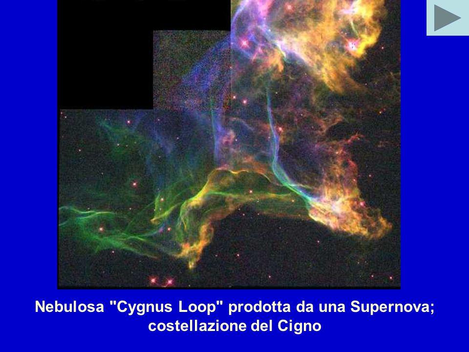 Nebulosa Cygnus Loop prodotta da una Supernova; costellazione del Cigno