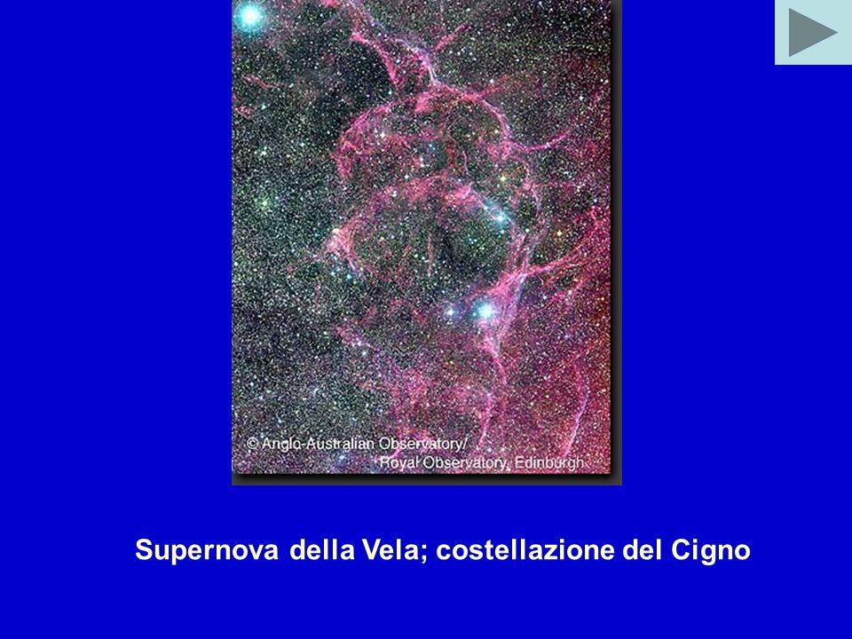 Supernova della Vela; costellazione del Cigno