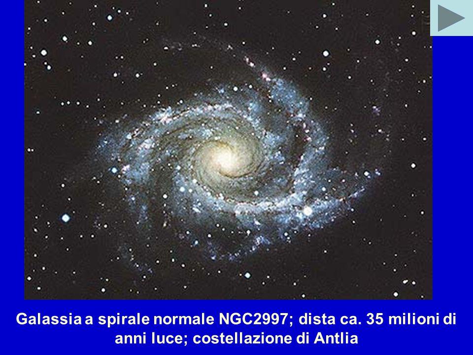 Galassia a spirale normale NGC2997; dista ca. 35 milioni di anni luce; costellazione di Antlia