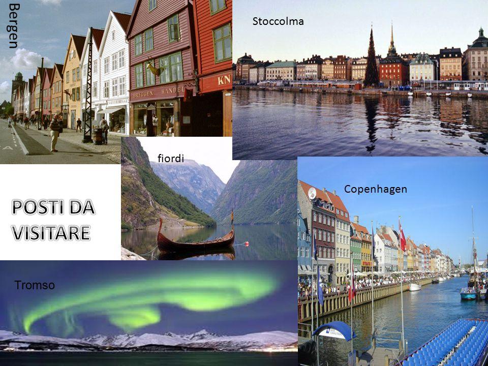 Bergen fiordi Stoccolma Copenhagen Tromso