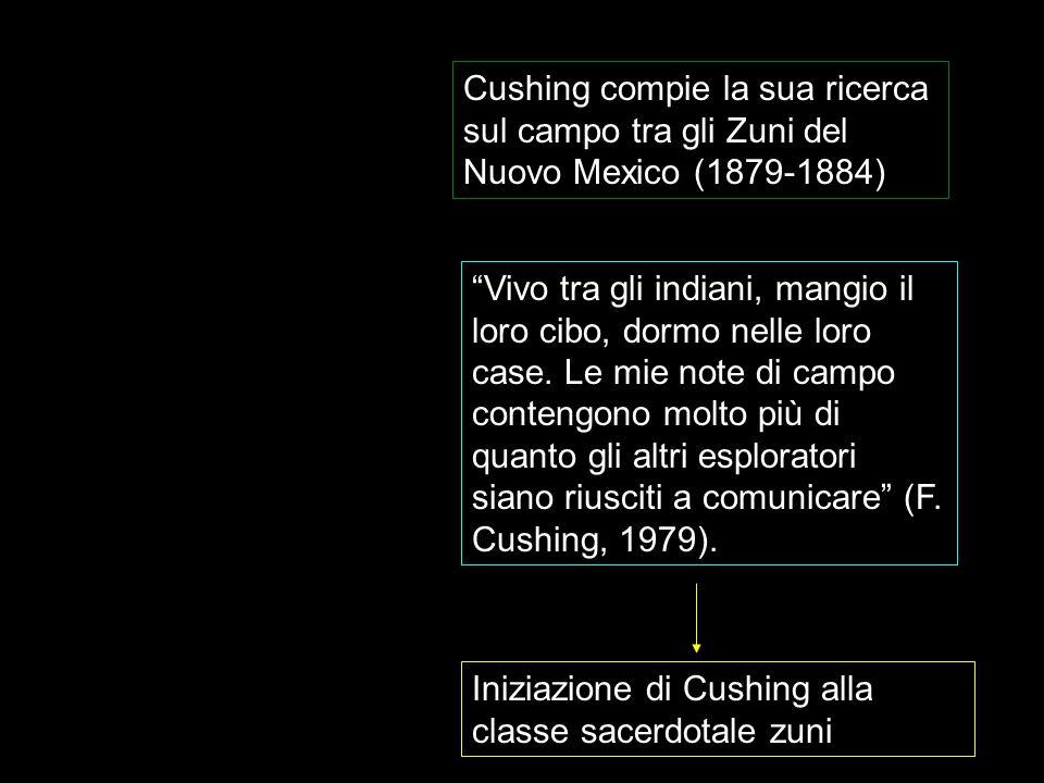 """Cushing compie la sua ricerca sul campo tra gli Zuni del Nuovo Mexico (1879-1884) """"Vivo tra gli indiani, mangio il loro cibo, dormo nelle loro case. L"""