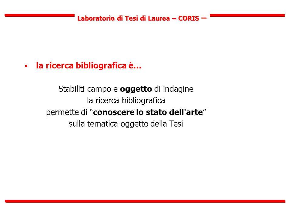 Laboratorio di Tesi di Laurea – CORIS – B) Le biblioteche in Internet (on line)  dalle biblioteche reali alle biblioteche digitali  biblioteche e cataloghi online in Italia  biblioteche e cataloghi online nel mondo S.