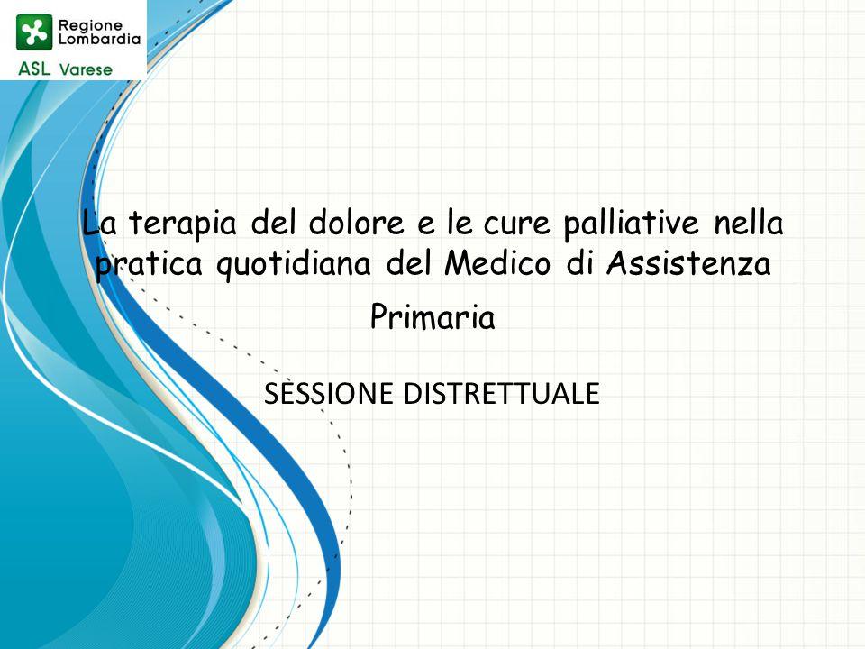 La terapia del dolore e le cure palliative nella pratica quotidiana del Medico di Assistenza Primaria SESSIONE DISTRETTUALE