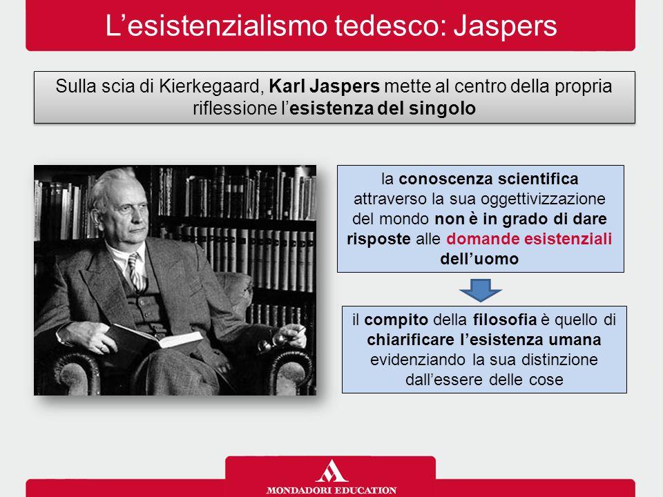la conoscenza scientifica attraverso la sua oggettivizzazione del mondo non è in grado di dare risposte alle domande esistenziali dell'uomo il compito