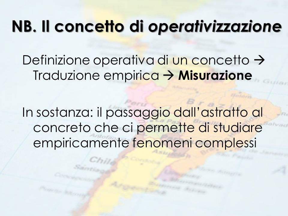 Esempio:operativizzare la Rule of Law (I) The rule of law is not only the enforcement of legal norms.