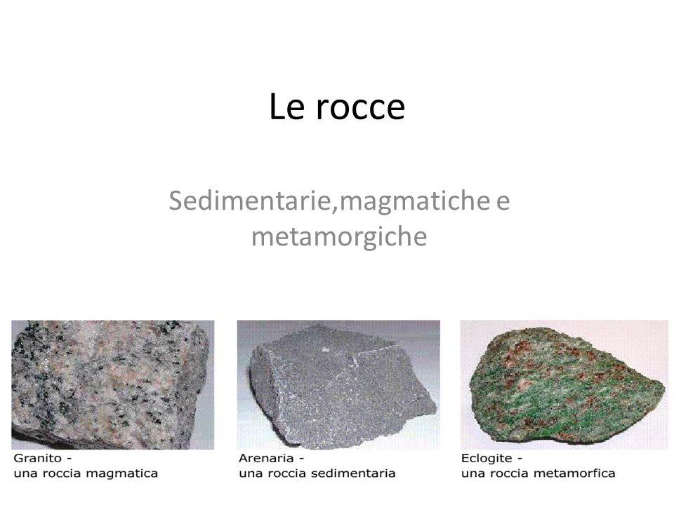 Le rocce Sedimentarie,magmatiche e metamorgiche