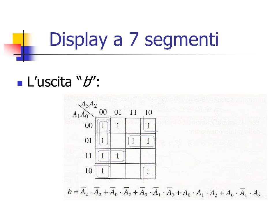 """Display a 7 segmenti L'uscita """"b"""":"""