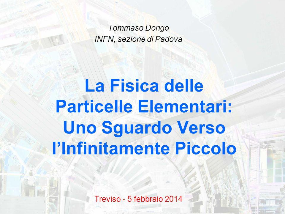 Tommaso Dorigo INFN, sezione di Padova Treviso - 5 febbraio 2014 La Fisica delle Particelle Elementari: Uno Sguardo Verso l'Infinitamente Piccolo