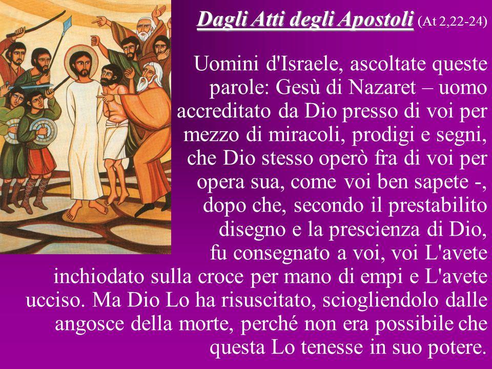 Dalla lettera di S.Paolo apostolo ai Romani Dalla lettera di S.
