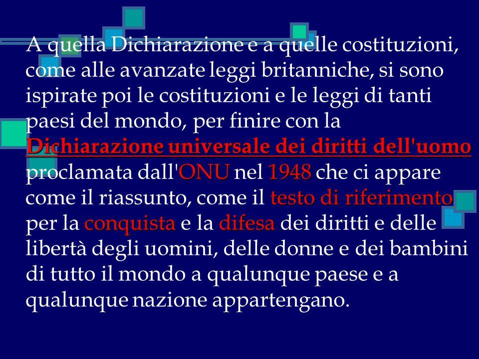 Dichiarazione universale dei diritti dell'uomo ONU1948 testo di riferimento conquistadifesa A quella Dichiarazione e a quelle costituzioni, come alle
