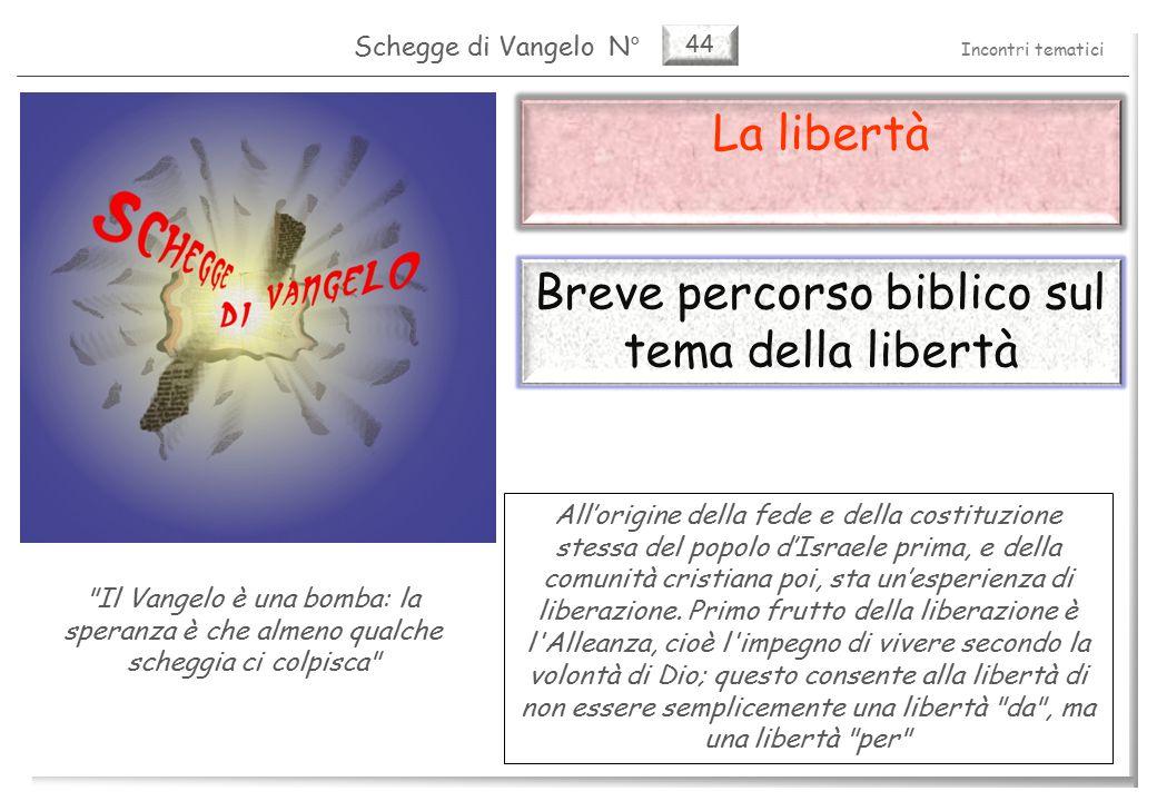44 La libertà La libertà nell Antico Testamento (1) 2 Pag.