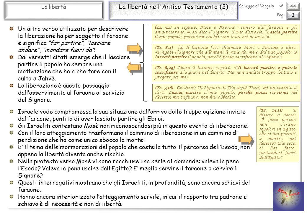 44 La libertà La libertà nell Antico Testamento (2) 3 Pag.