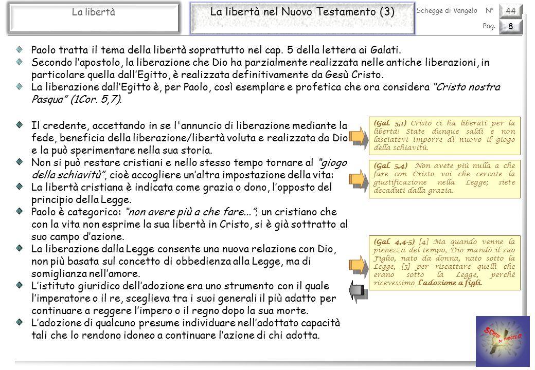 44 La libertà La libertà nel Nuovo Testamento (3) 8 Pag.