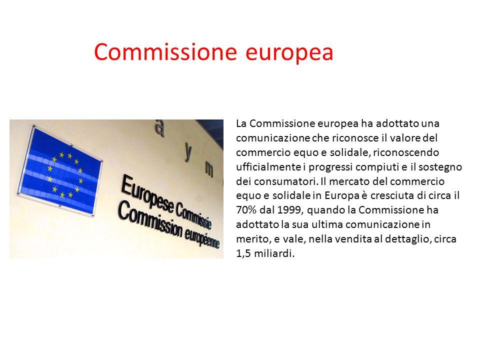 La Commissione europea ha adottato una comunicazione che riconosce il valore del commercio equo e solidale, riconoscendo ufficialmente i progressi com