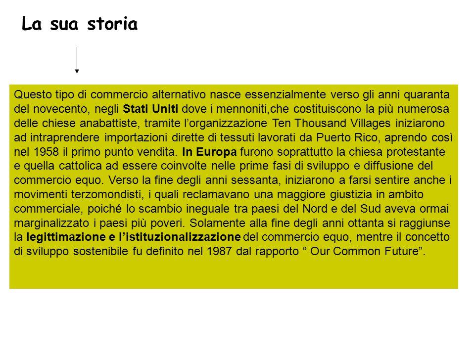 Fonti: Che cos'è il commercio equo e solidale di Elena Viganò