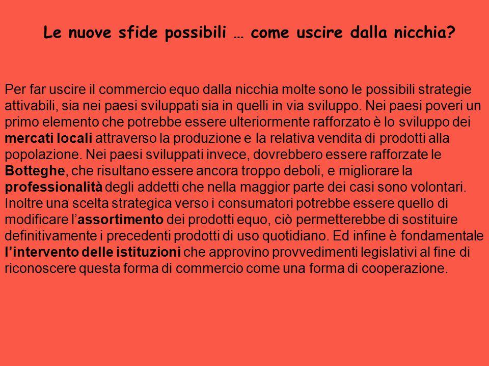 CEES IN ITALIA Le botteghe solidali sono circa seicento in tutta Italia e sono concentrate prevalentemente nel nord-ovest e nel nord-est.