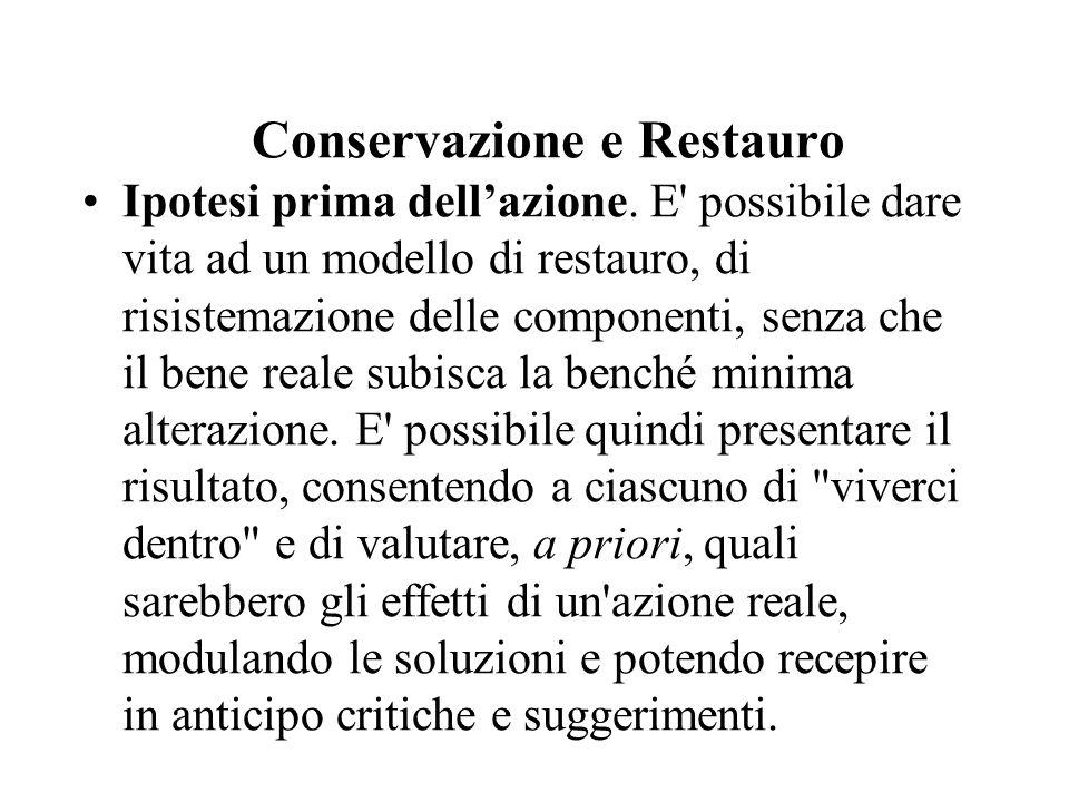 Conservazione e Restauro Ipotesi prima dell'azione.