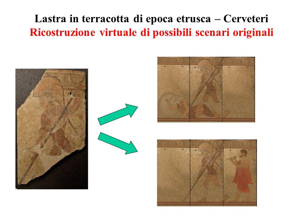 Lastra in terracotta di epoca etrusca – Cerveteri Ricostruzione virtuale di possibili scenari originali