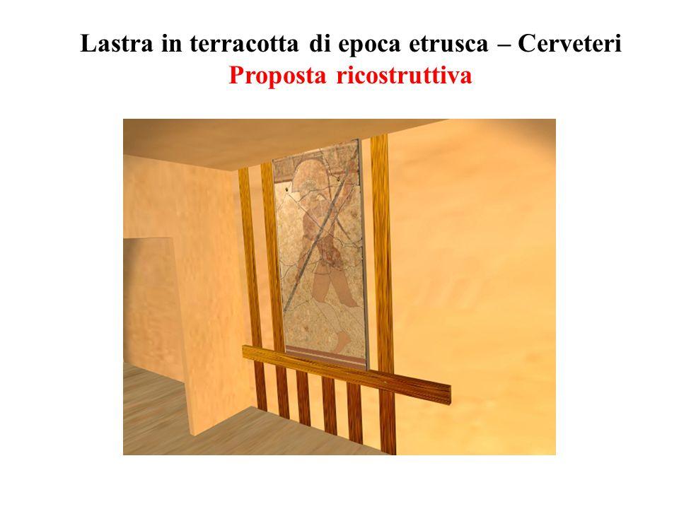 Lastra in terracotta di epoca etrusca – Cerveteri Proposta ricostruttiva