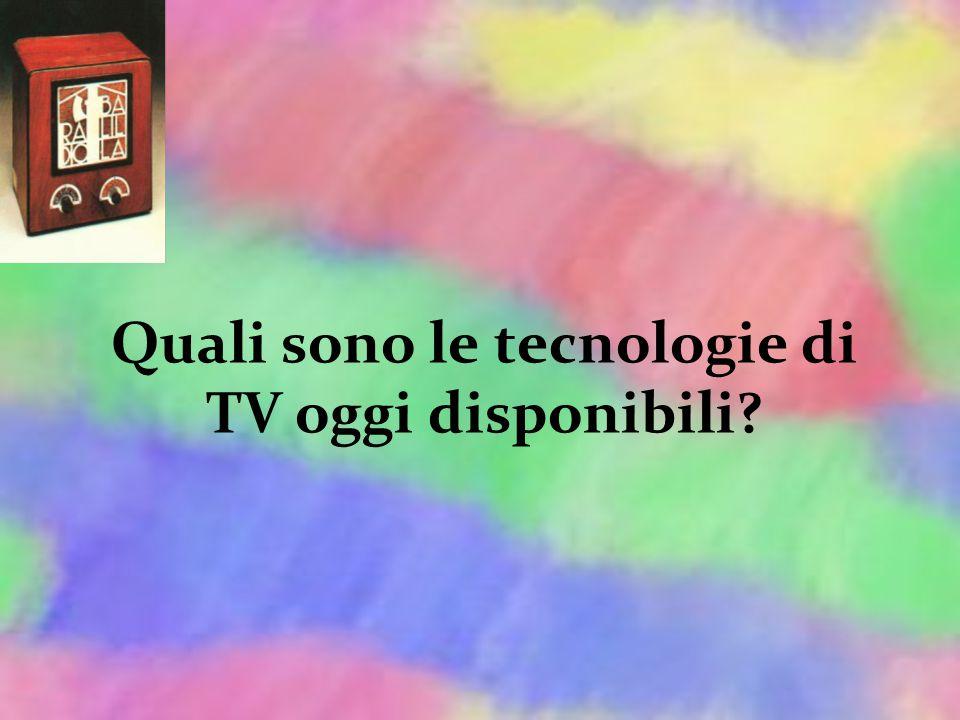 Quali sono le tecnologie di TV oggi disponibili?